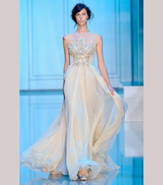 Elie Saab Dresses Sleeves Beads and Sheer Illusion Necklines