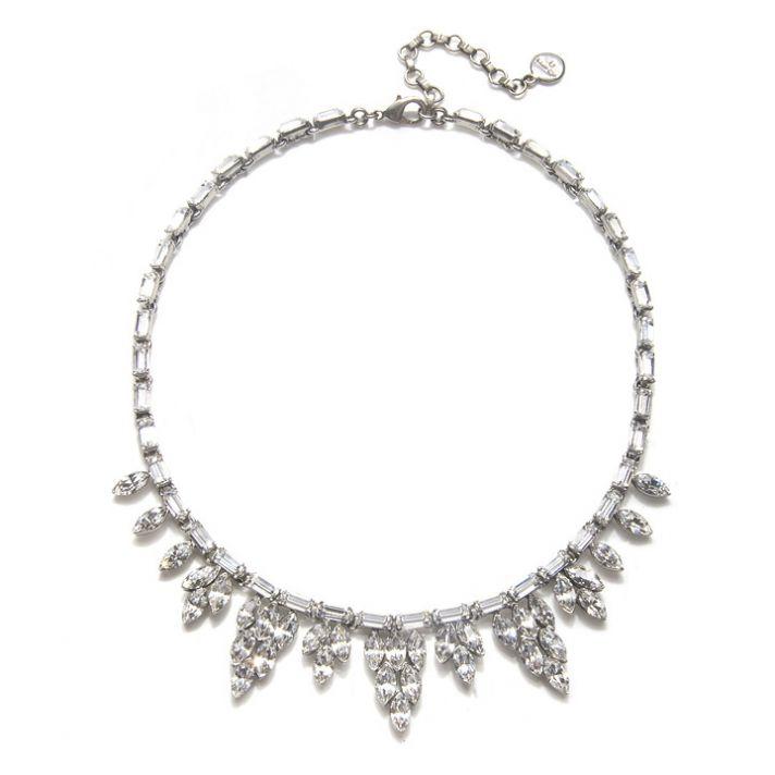 Vintage-inspired crystal bridal necklace