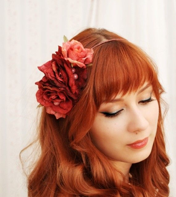 Romantic wedding hair flowers