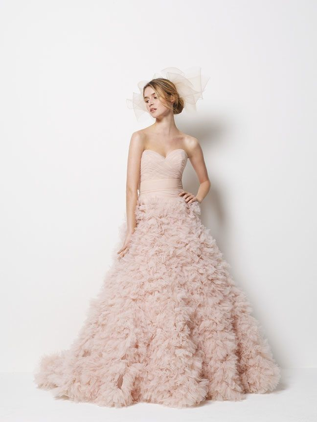 wedding dress watters fall 2011 bridal gowns 9087b pink