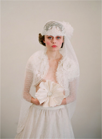 Frenchinspired bridal cap a chic alternative to bridal veil