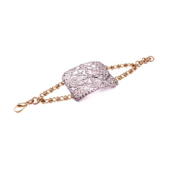 Credit Art deco vintage bridal bracelet