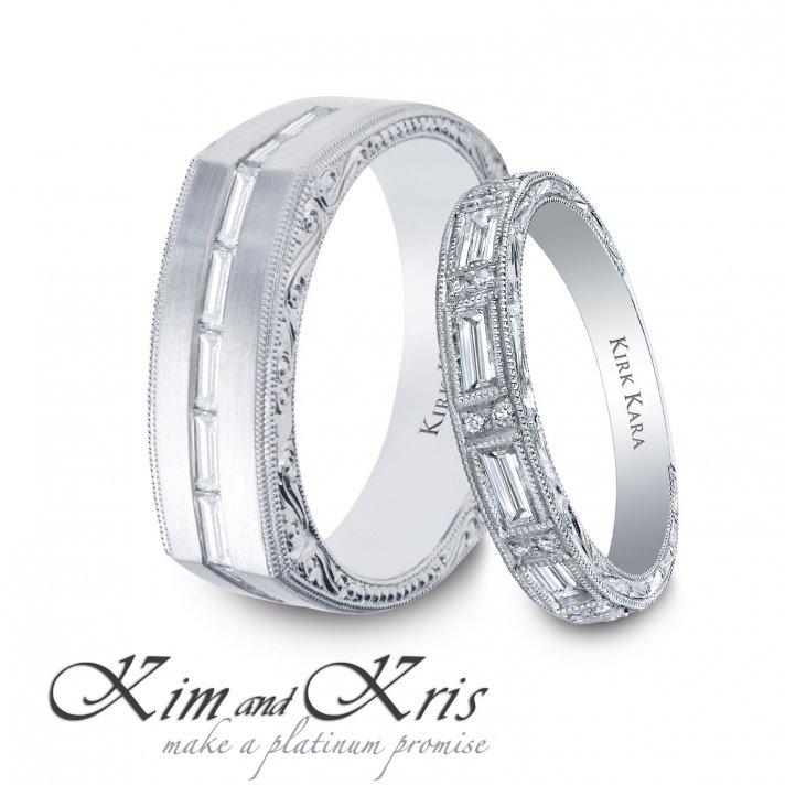 Kim Kardashian and Kris Humphries's wedding bands