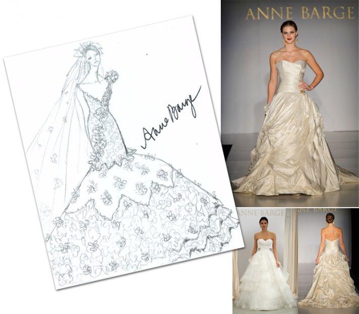 Anne Barge's interpretation of Kim Kardashian's wedding dress