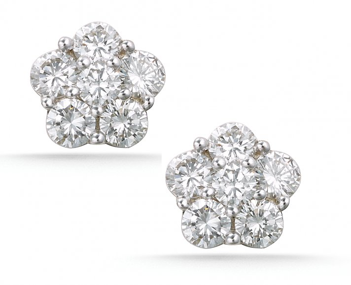 Platinum stud earrings to thank your bridesmaids