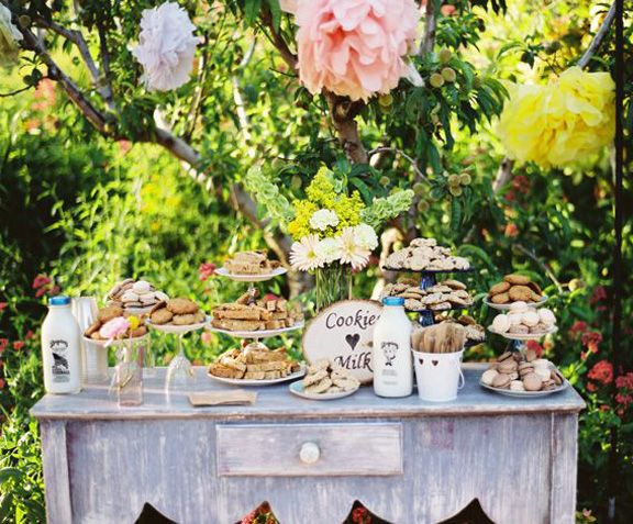 Cookies and Milk Table by Bret Cole Photography