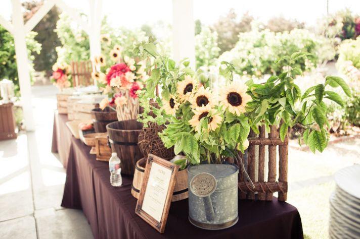 Sunflower Adorned Vintage Table