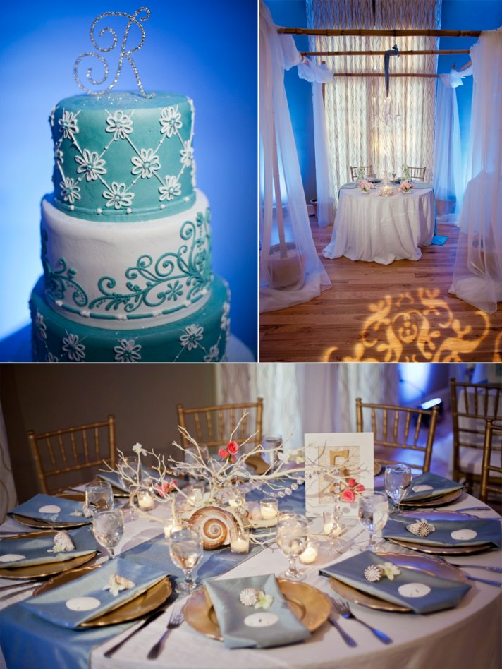 Elegant beach themed wedding in FLorida