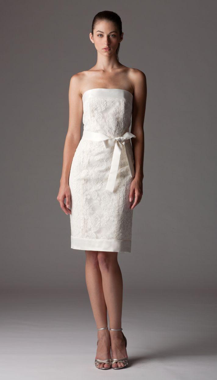 Little white wedding reception dress