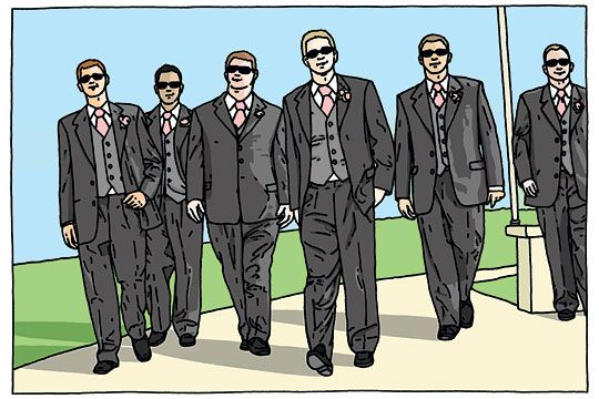 Grooms, don't channel Resevoir Dogs in your wedding photos
