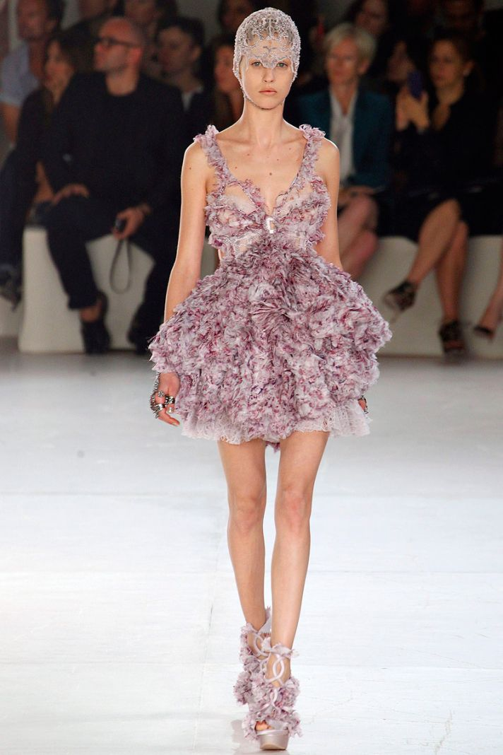 Embellished Alexander McQueen wedding reception dress
