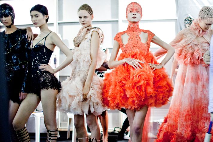 Sea-inspired Spring 2012 collection by Sarah Burton for Alexander McQueen