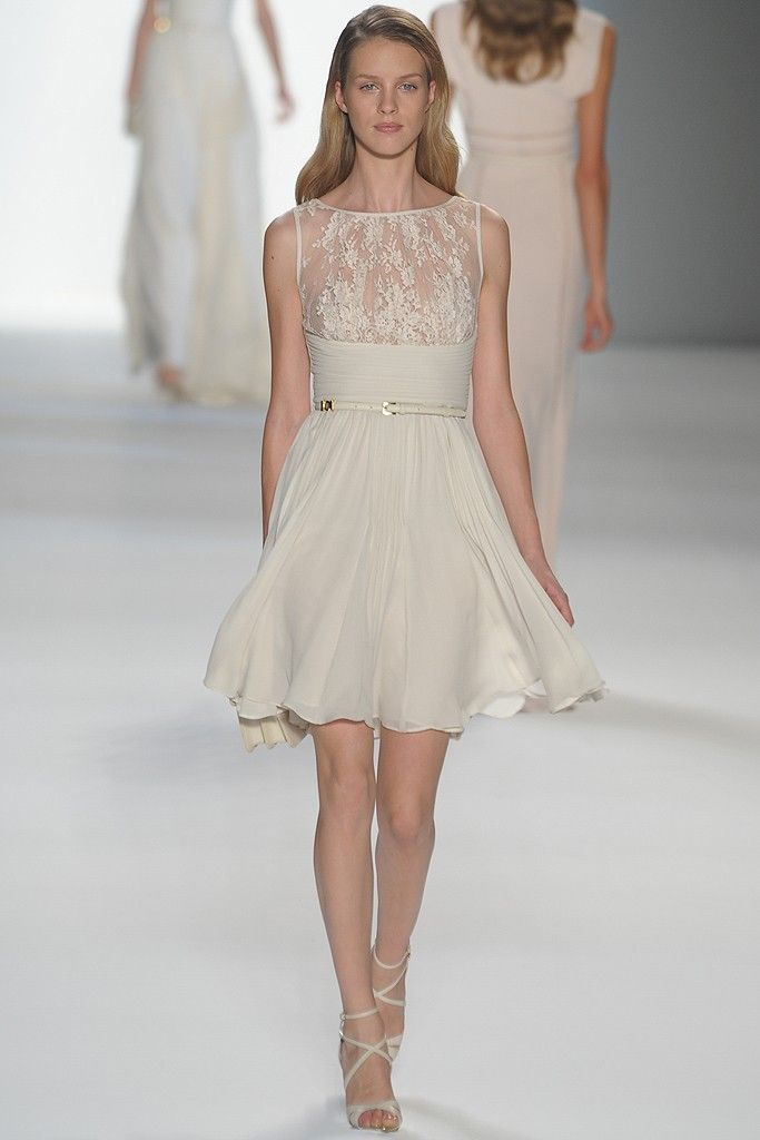 Little white dress with lace covered bodice