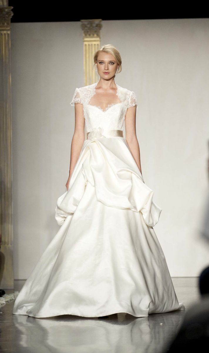 Cap sleeve a-line wedding dress