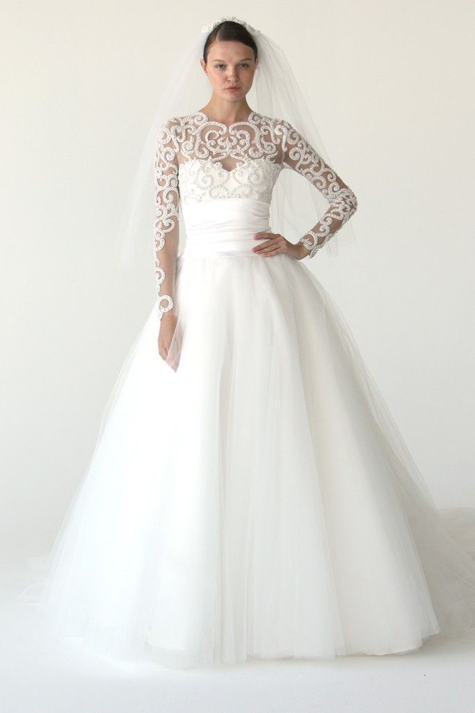 Wedding Dresses For A Fall Wedding Tulle ballgown wedding dress
