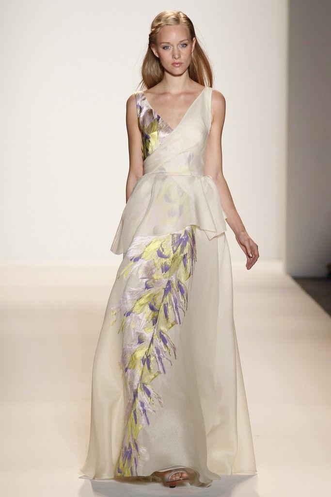 2012 wedding dress trend, peplums- Badgley Mischka Bride