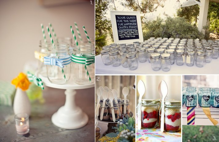 DIY wedding projects for vintage brides- mason jars, 1