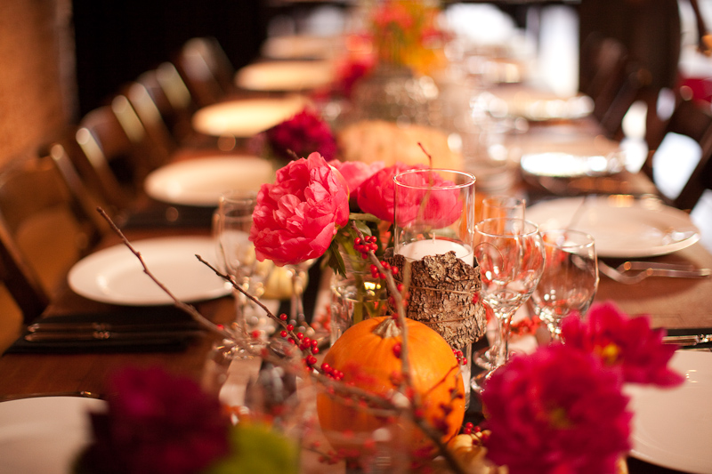 Fall wedding on Halloween fall wedding flowers and wedding reception table