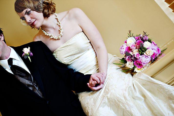 Winter Wedding in Seattle Vintage meets DIY