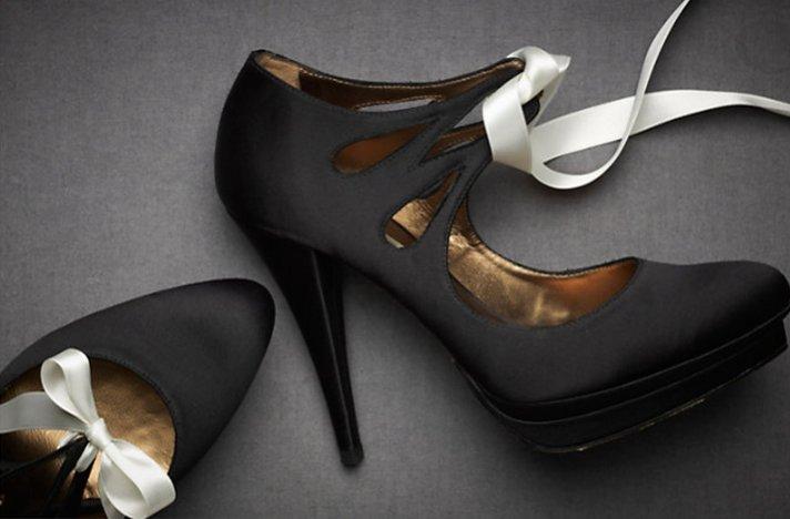 BHLDN wedding shoes- sophisticated black