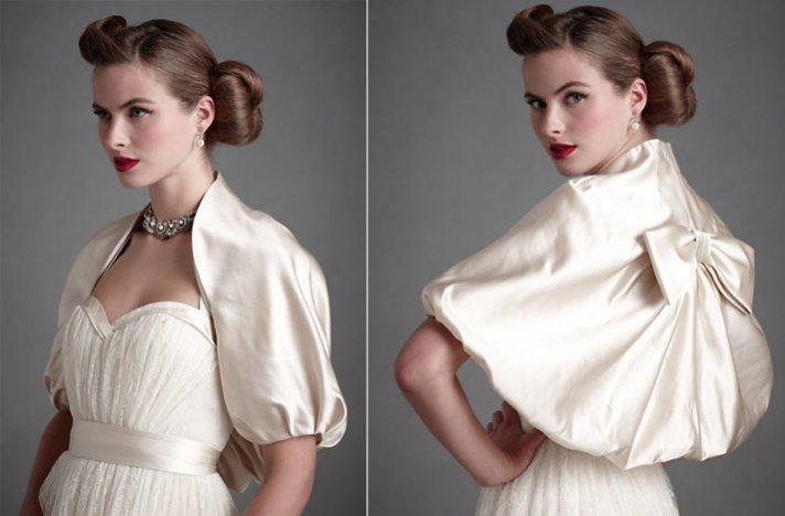 Bridal boleros by BHLDN- vintage-inspired wedding cape