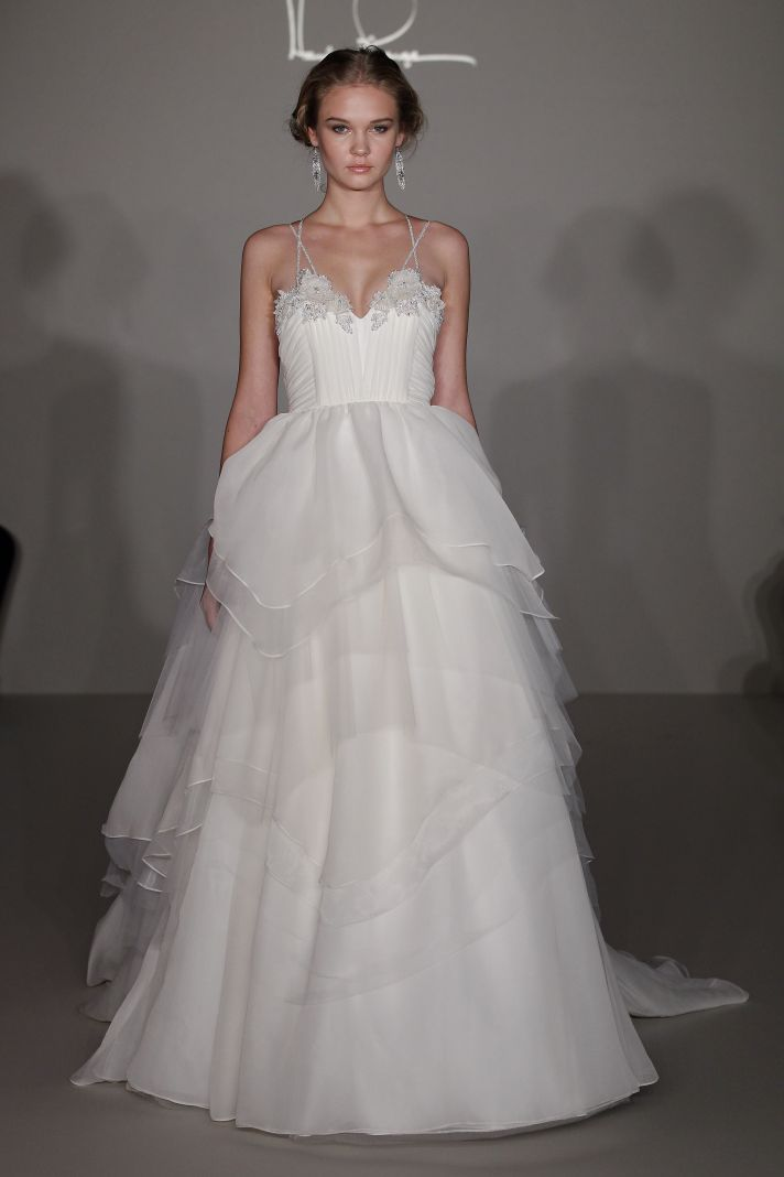 See hayley paige 39 s debut wedding dress collection onewed for Hayley paige wedding dress
