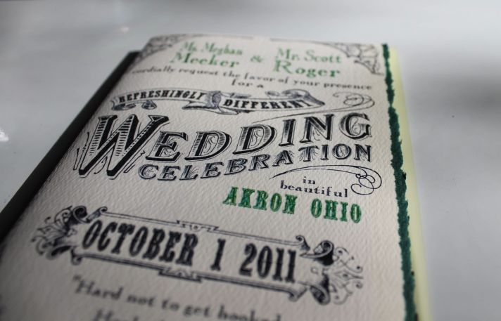 Custom wedding invitations designed by the groom- fairytale twist
