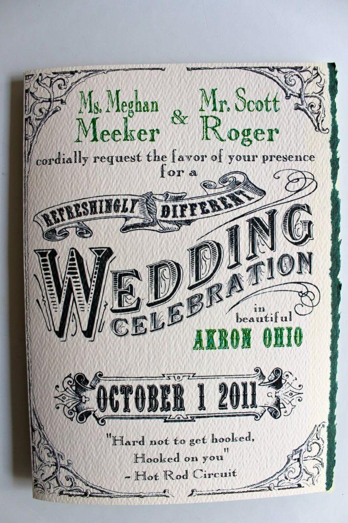 Custom wedding invitations designed by the groom- fairytale twist