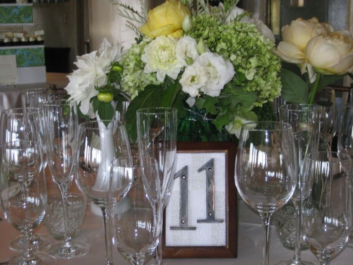 unique wedding reception table numbers rustic chic style