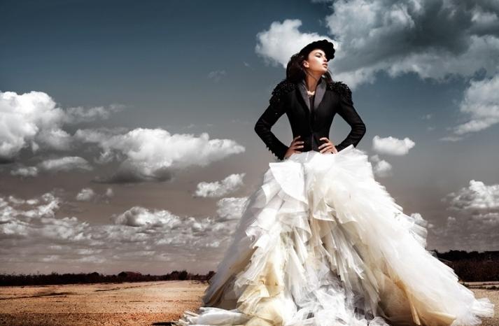 edgy wedding dress inspiration ballgown vera wang