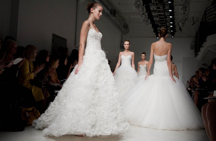 kenneth pool 2012 bridal gowns wedding dress feathers