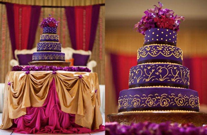 royal purple wedding cake indian weddings