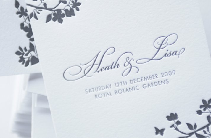au wedding letterpress wedding invitations