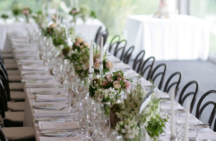au wedding romantic wedding tablescape