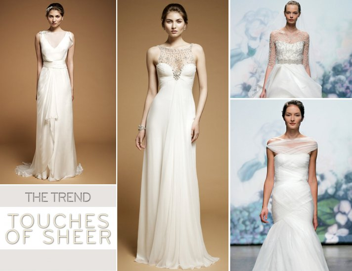 2012 wedding dress trends sheer necklines