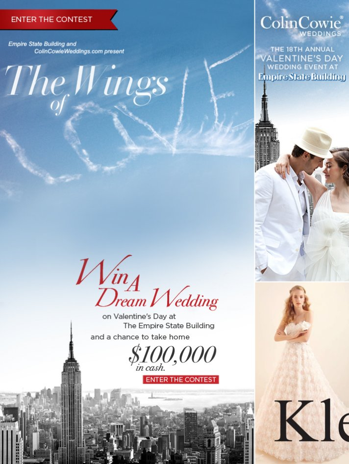 colin cowie valentines day wedding giveaway