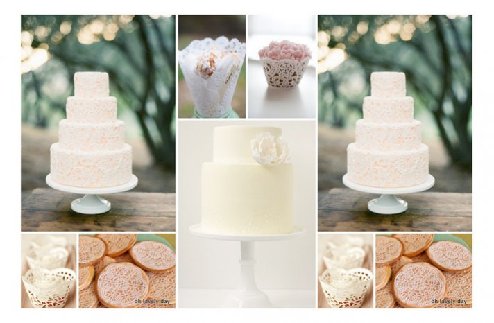 Dessert Ideas for Your Vintage Wedding: Doily Details! | OneWed