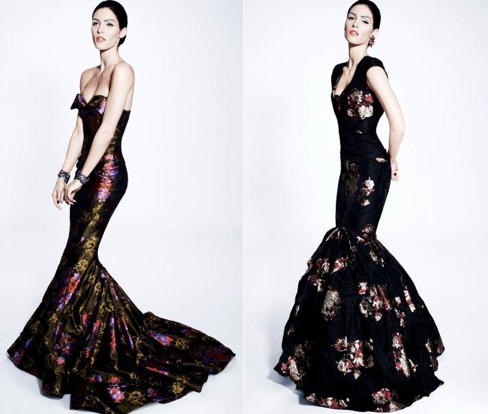 zac posen wedding dress bridesmaid inspiration japanese wedding theme