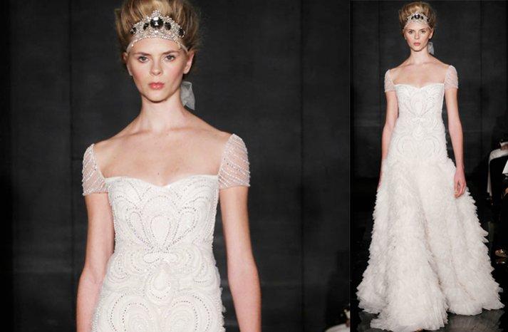 Beaded-cap-sleeved-wedding-dress-2012-reem-acra