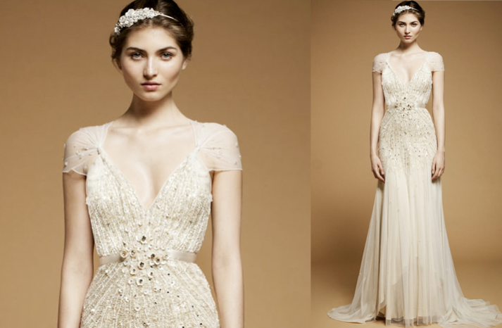 Cap Sleeved Wedding Dresses 2012