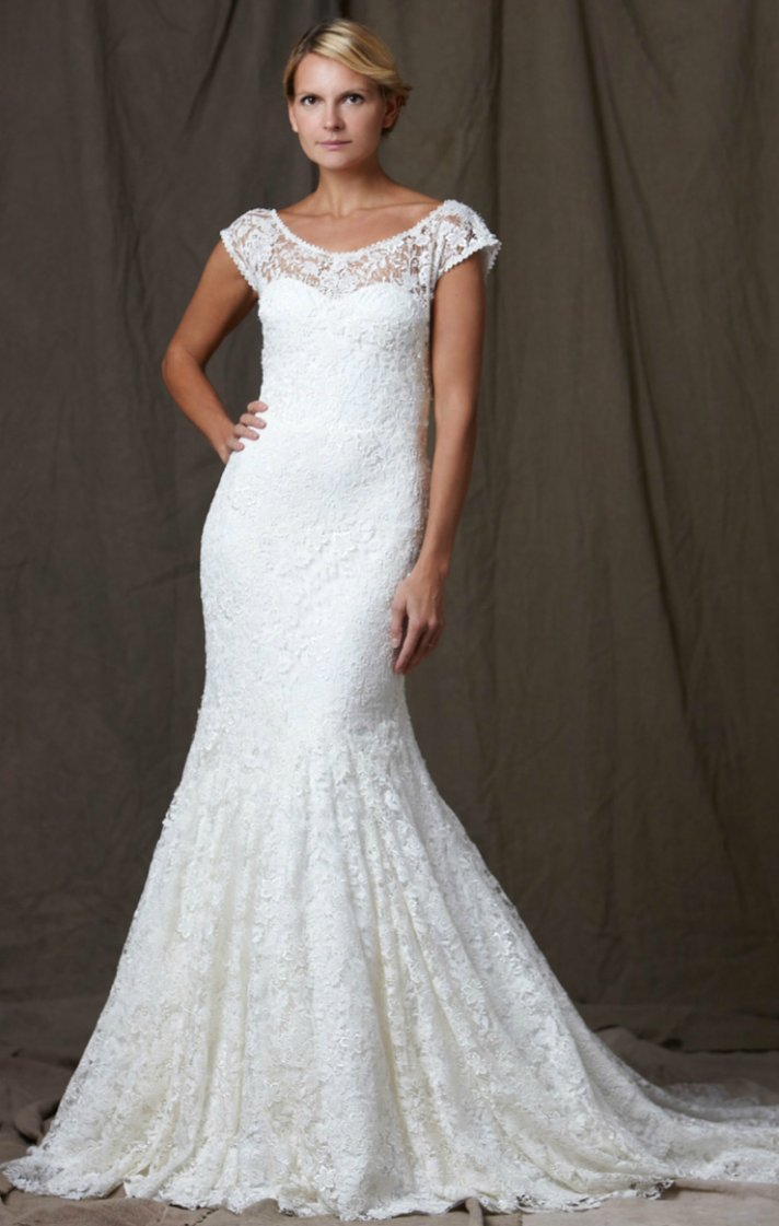 5 favorite 2012 wedding dresses by lela rose onewed for Wedding dresses with roses on them