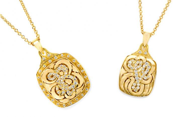 tacori monogram bridal necklace