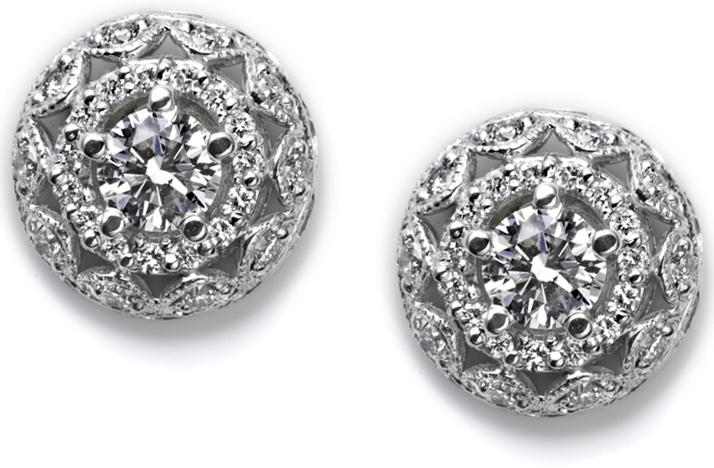 diamond bridal earrings tacori Credit none
