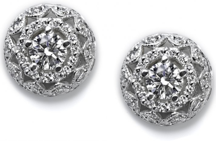 diamond bridal earrings tacori