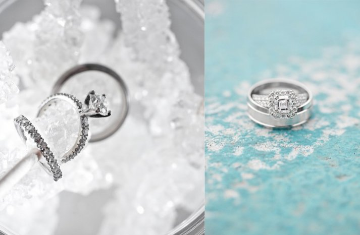 winter wedding inspiration engagement rings