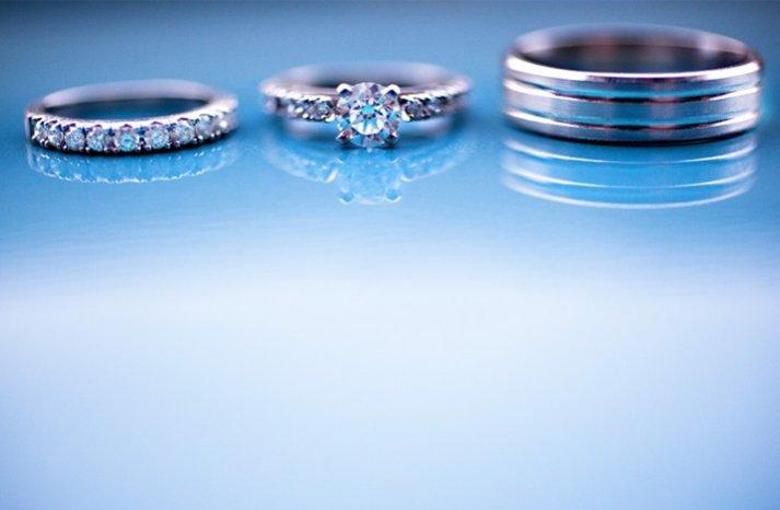 winter wedding diamond engagement ring wedding bands