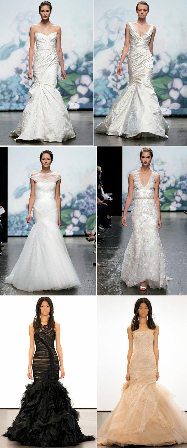 2012 wedding dresses mermaid bridal gown vera wang monique lhuillier