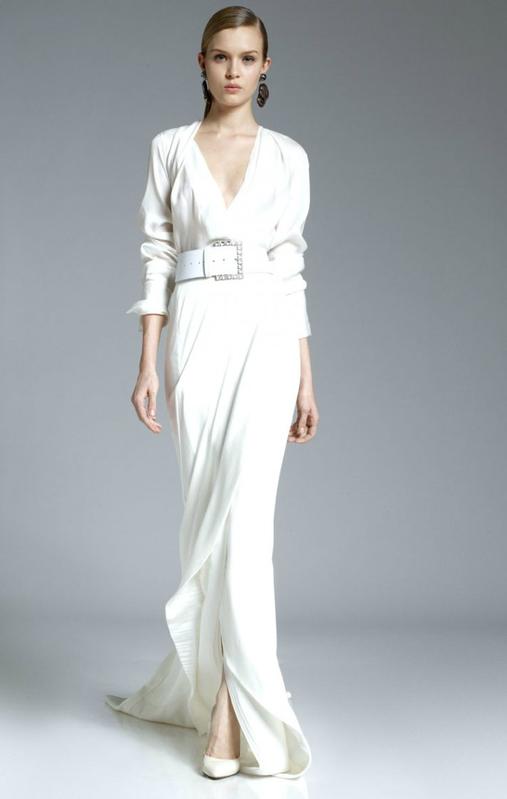 White aisle wedding inspiration from pre fall 2012 for Donna karan wedding dresses