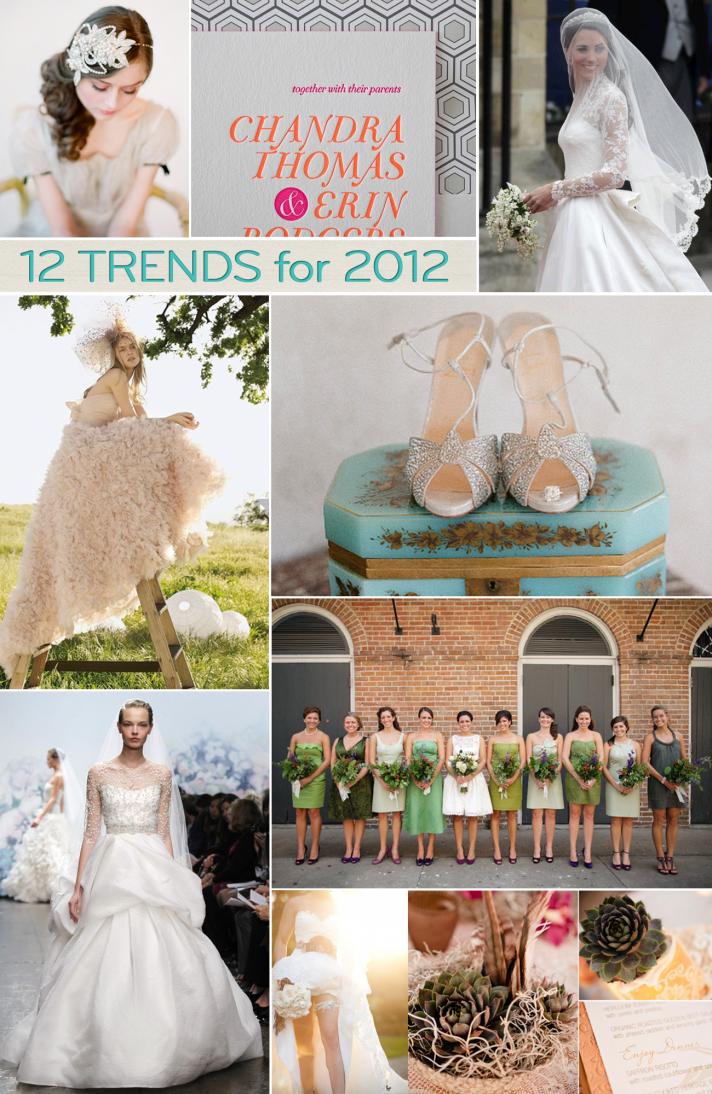 top 12 wedding trends 2012 weddings planning ideas