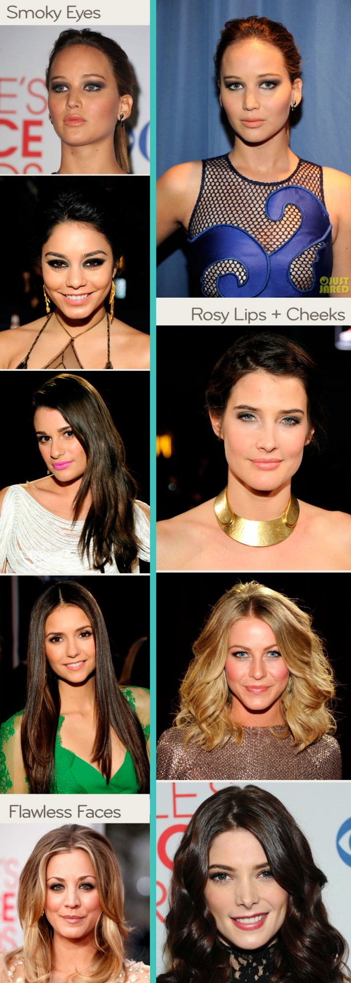 Wedding hair and makeup inspiration from the red carpet- 2012 People's Choice